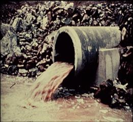 Storm drain during a storm